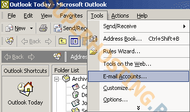 outlook2002 smtp auth step1
