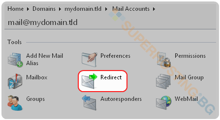 Mail redirect in Plesk