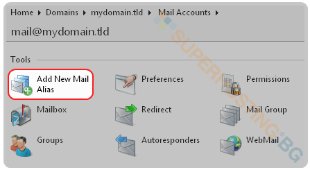 Add New Mail Alias