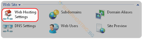 Web Hosting Settings