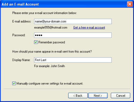 Настройка на Windows Mail стъпка 4