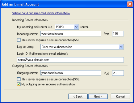 Настройка на Windows Mail стъпка 5