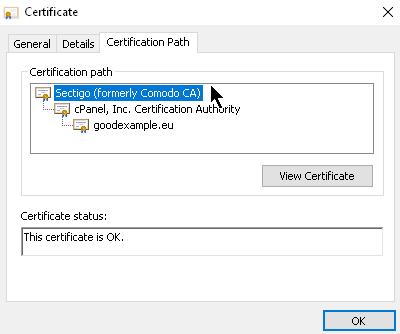 Тези сертификати са добавени към приложенията, които ще извършват проверка на автентичнос