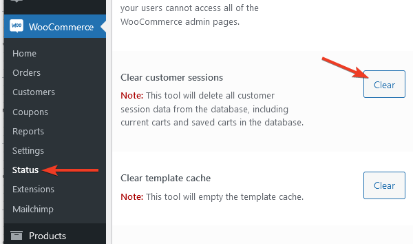 Изчистване на клиентските сесии от базата данни.