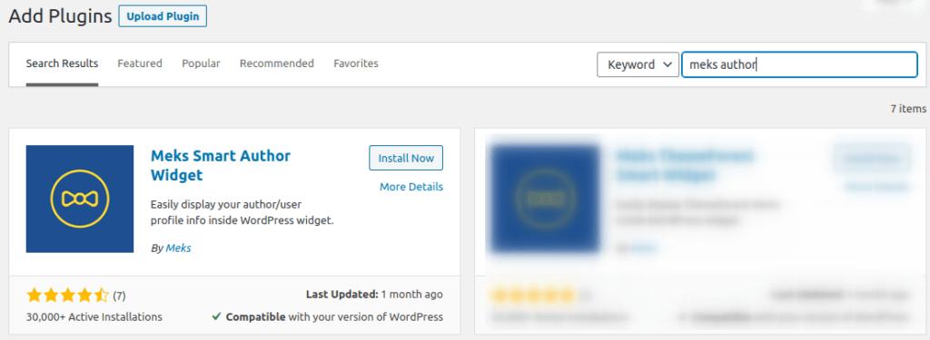 Инсталиране на Meks Smart Author Widget в WordPress