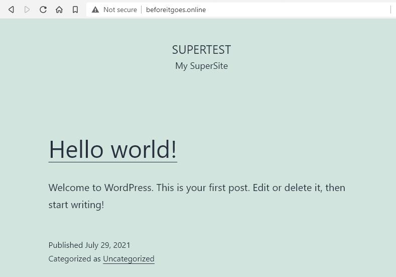 инсталирахме WordPress през WordPress Manager by SH