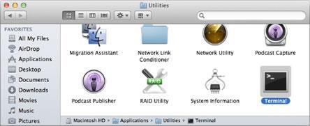 отворете папката Utilities