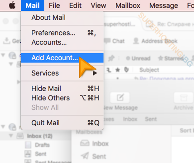 Set up a new e-mail account in Mac Mail