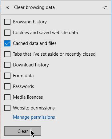 Изчистване на кешираната информация от сайтовете