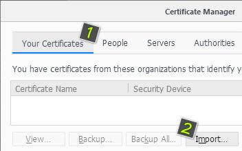 Инсталиране на сертификат във Firefox