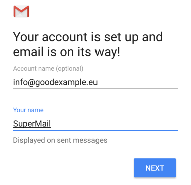 Your account is set up and email is on its way!