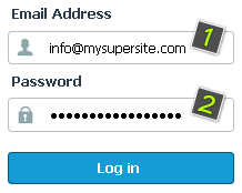 Enter your email address and password in the loaded page.