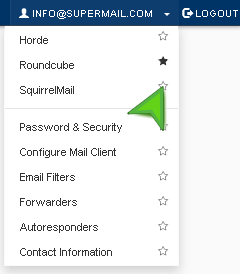 Choose what to be loaded by default when accessing webmail