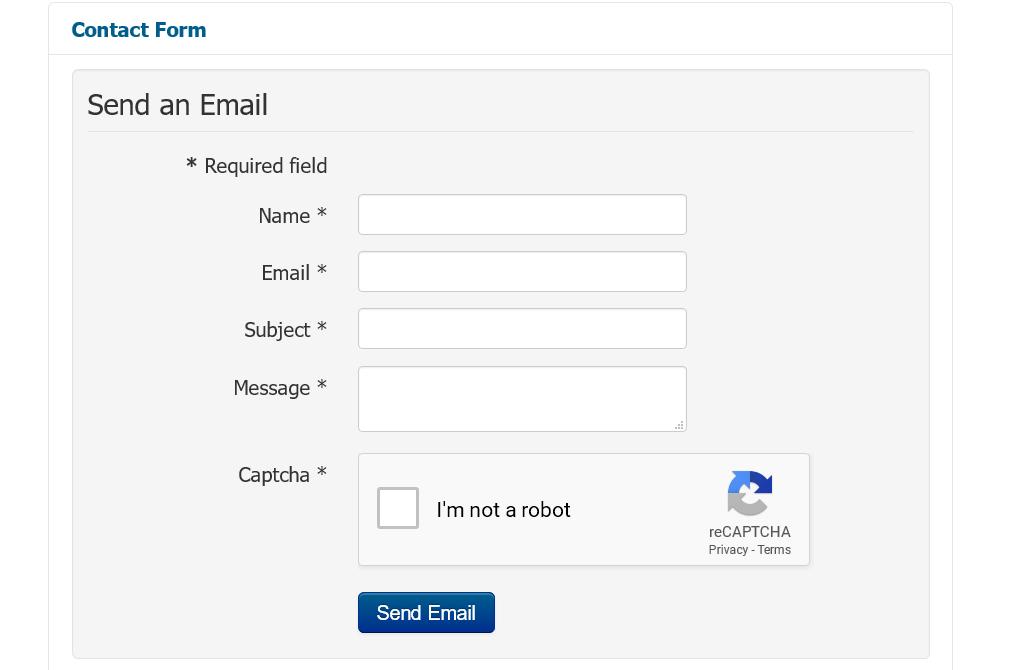 Контактна форма на сайта.