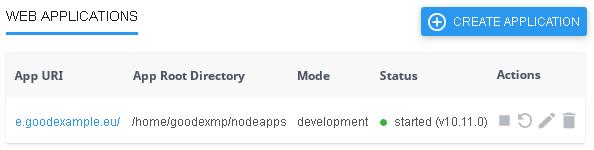 Работещо Node.js приложение в хостинг акаунта