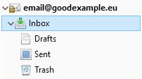 Първоначални системни папки в ново-създаден имейл акаунт