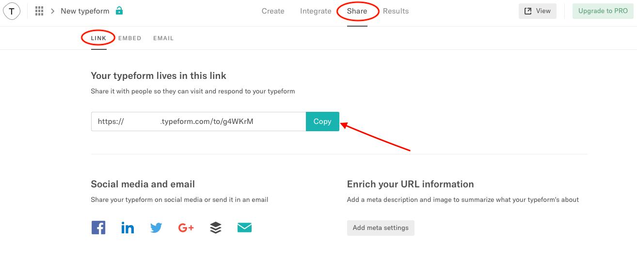 Исканият URL може да вземете, като го копирате