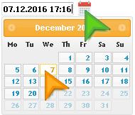 Select backup date
