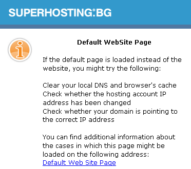 cPanel - Default Website Page
