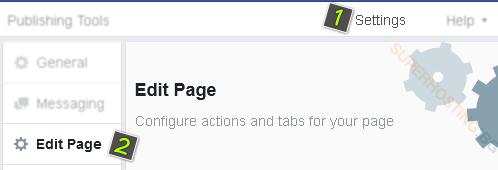 Настройки на страницата във Facebook