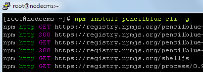 Installation of pencilblue-cli