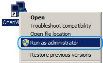 Стартиране на OpenVPN като администратор