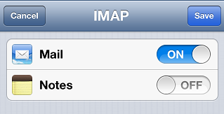 Finishing your email account configuration on iPhone