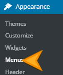 Menus in WordPress