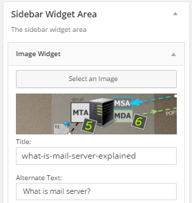 Adding an image with Image Widget (plugin)